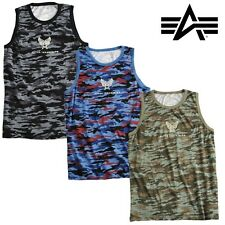 Alpha Industries Tank C-1 Camo Tank Top Stringer Muscle Shirt Fitness Gym NEW