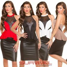 Womens Sexy New Halterneck Peplum Top Size 8-10 Ladies Party Hot Fashion Wear