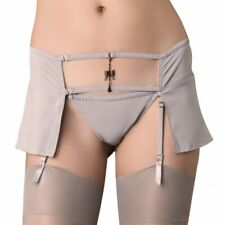 Silky Garter Belt mini Skirt garterbelt Feerie Precieuse Maison Close Gray