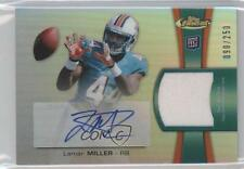 2012 Topps Finest Rookie Autographed Patch #RAP-LM Lamar Miller Auto Card