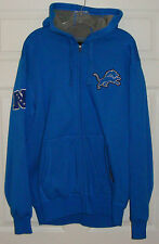 DETROIT LIONS Mens Sherpa Lined Full Zip Hooded Sweatshirt - NFL - LARGE