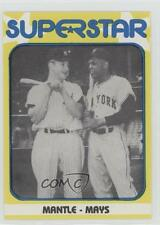 1980 TCMA Superstars #6 Mantle Mays New York Yankees Giants Mickey Willie Card