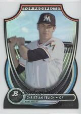 2013 Bowman Platinum Top Prospects Die-Cut #TP-CY Christian Yelich Miami Marlins