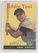 1958 Topps #173 Eddie Yost Washington Senators Baseball Card