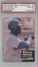 1992 Front Row Club House Series #3 Ken Griffey Jr PSA 10 Seattle Mariners Jr.