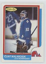 1986-87 O-Pee-Chee #47 Clint Malarchuk Quebec Nordiques RC Rookie Hockey Card