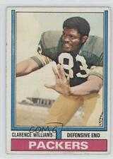 1974 Topps #349 Clarence Williams Green Bay Packers RC Rookie Football Card