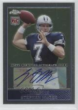 2009 Topps Chrome Autographed Rookie #TC212 Stephen McGee Dallas Cowboys Auto