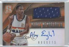 2013 Panini Spectra Marks Memorabilia Orange 13 Alex English Denver Nuggets Auto