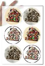 Decoupage Paper soft Gingerbread House Hansel and Gretel Christmas Decoration