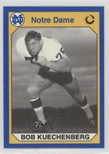1990 Collegiate Collection University of Notre Dame #122 Bob Kuechenberg Card
