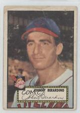 1952 Topps #253 Johnny Berardino Cleveland Indians RC Rookie Baseball Card