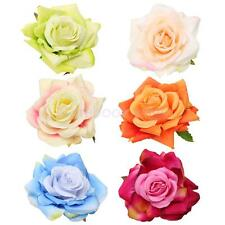 Fabric Rose Flower Wedding Bride Hair Clip Pin Accessories Brooch Groom Corsage