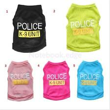 Dog Puppy Summer Clothes Jacket Hoodie Police Vest Costume Coat Apparel