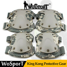 Tactical Airsoft Outdoor CS Combat Protective Gear Adjustable Knee & Elbow Pad