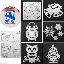 Christmas Snowflake Bell Cutting Dies Stencil Scrapbook Album Embossing Craft