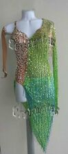 K1767 Fringing Ballroom Latin Salsa chacha samba rumba dance dress Custom made