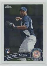 2011 Topps Chrome #198 Eduardo Nunez New York Yankees RC Rookie Baseball Card