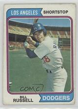 1974 Topps #239 Bill Russell Los Angeles Dodgers Baseball Card