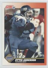 1991 Score #433 Ottis Anderson New York Giants Football Card