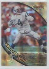 1997 Bowman's Best Atomic Refractor #47 Jim Harbaugh Indianapolis Colts Card