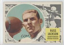 1960 Topps CFL #63 Russ Jackson Ottawa Rough Riders (CFL) Rookie Football Card