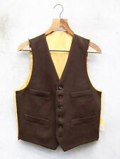 Chestnut Brown Traditional Wool Waistcoat by Gurteen – 38 - 52in