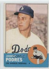 1963 Topps #150 Johnny Podres Los Angeles Dodgers Baseball Card