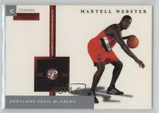 2005-06 Topps Pristine Personal Pieces Relics PPC-MW Martell Webster Rookie Card