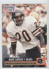 1991 Pro Set #1.1 Mark A Carrier (Defensive ROY) Chicago Bears A. Football Card