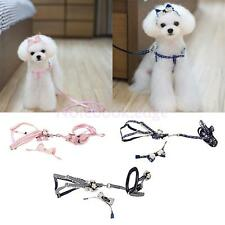 Dog Pet Puppy Cat Adjustable Harness w/ Traction Rope Lead Leash Headband S/M