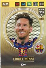 Gold Rare Panini Adrenalyn XL FIFA 365 Icon Lionel Messi 001