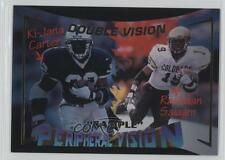 1995 Signature Rookies #V5 Ki-Jana Carter Rashaan Salaam Rookie Football Card