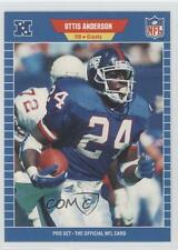1989 Pro Set #554 Ottis Anderson New York Giants Football Card