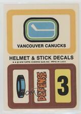 1978-79 Topps Stickers #VAN Vancouver Canucks Team Hockey Card