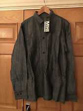 MAHARISHI MHI MENS DENIM OVER SHIRT SIZE LARGE!!!!