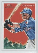 2010 Topps National Chicle #136 Julio Borbon Texas Rangers Baseball Card