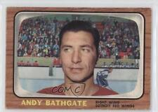 1966-67 Topps #44 Andy Bathgate Detroit Red Wings Hockey Card