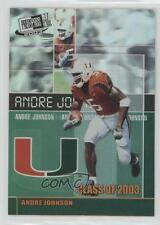 2003 Press Pass JE Class of #CL4 Andre Johnson Miami Hurricanes Football Card