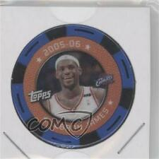 2005 Topps NBA Collector Chips Blue #LEJA Lebron James Cleveland Cavaliers Card