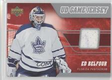 2006-07 Upper Deck UD Game Jersey #J-EB Ed Belfour Florida Panthers Hockey Card