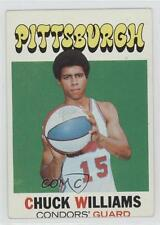 1971 Topps 218 Chuck Williams Pittsburgh Condors (ABA) RC Rookie Basketball Card