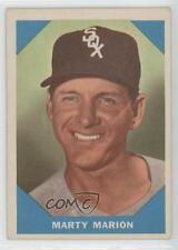 1960 Fleer #19 Marty Marion Chicago White Sox Baseball Card