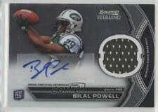 2011 Bowman Sterling Autograph Relics BSAR-BP Bilal Powell New York Jets Auto RC