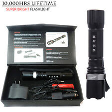 Super Bright XM-L Q5 LED Zoomable Adjustable Focus Tactical Flashlight Torch US