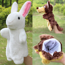 Family Finger Puppet Cloth Doll Baby Educational Cartoon Animal New Hand Toy