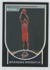 2007 Bowman Draft Picks & Stars Chrome Black Refractor #160 Brandan Wright Card