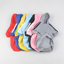 DOG HOODIE Cute Pet Warm Sweater Coat Costume Apparel Puppy Pup Small Dogs Hoody
