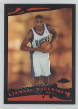2005-06 Topps Chrome Black Refractor #164 Jamaal Magloire Milwaukee Bucks Card