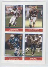2004 Bazooka Stickers 35 Chad Johnson Randy Moss Marvin Harrison Torry Holt Card